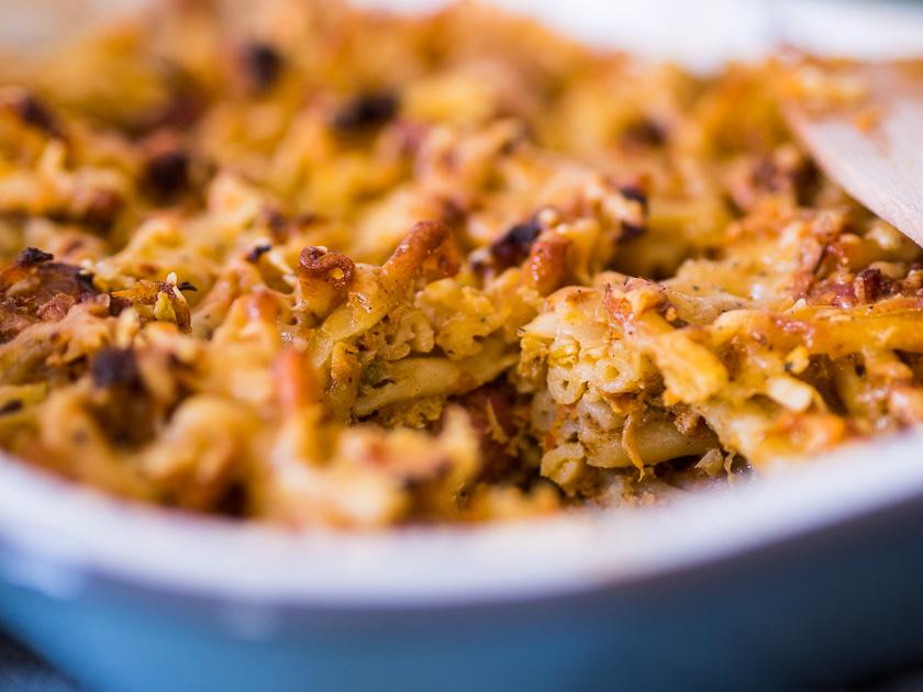 KochEvent Familienküche_Backen mit Kindern_Rezept Nudelauflauf mit Resten