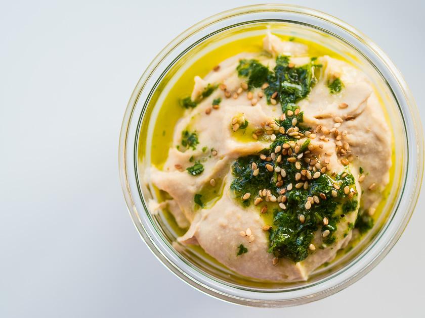 Familien Meal Prep_Rezept Lachs Pasta_Weiße Bohnen Hummus