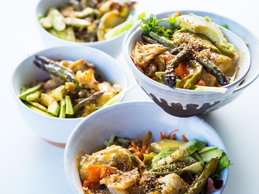 Familien Meal Prep_Rezept Hummus Ofengemüse Bowl