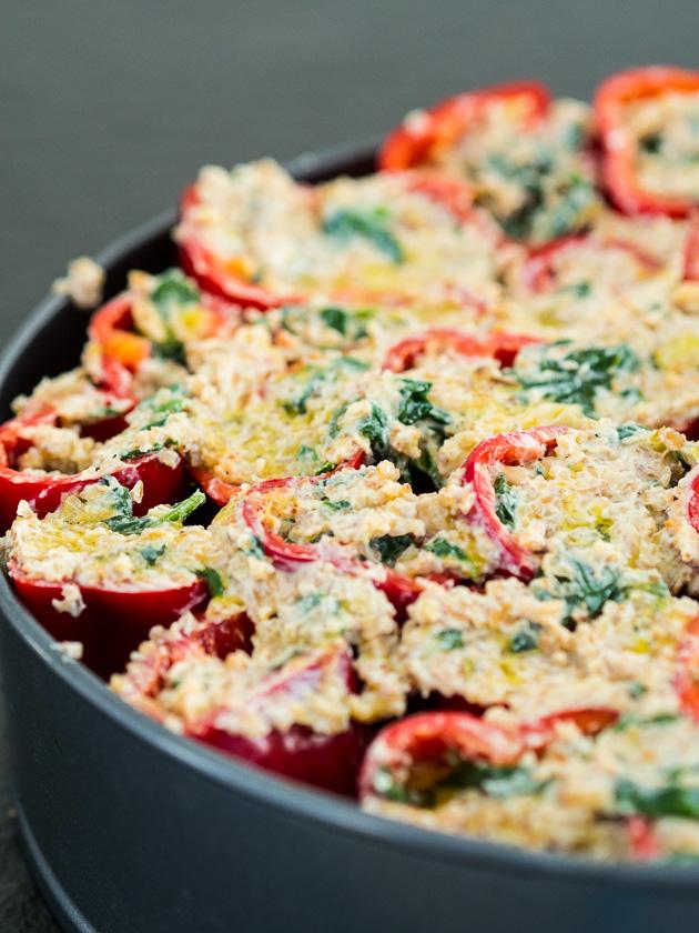 gefüllte Paprika, ein Familienrezept_vegetarische gefüllte Paprika