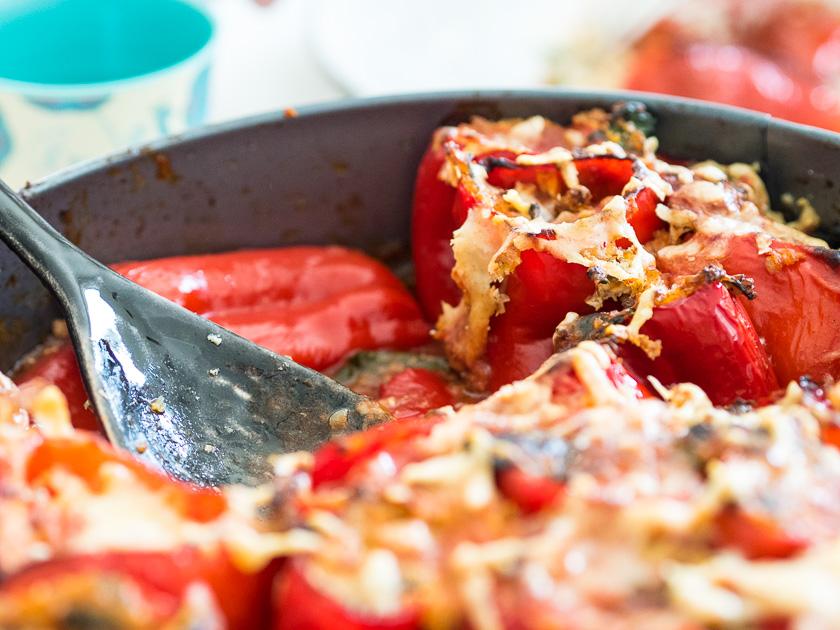 gefüllte Paprika, ein Familienrezept_Sommeressen