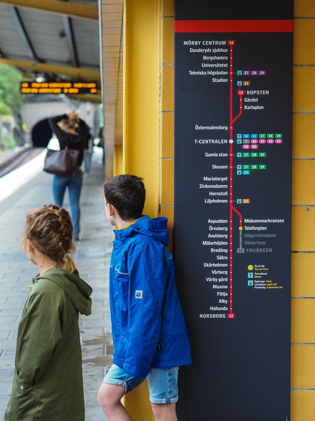 Stockholm mit Kindern_U-Bahn fahren