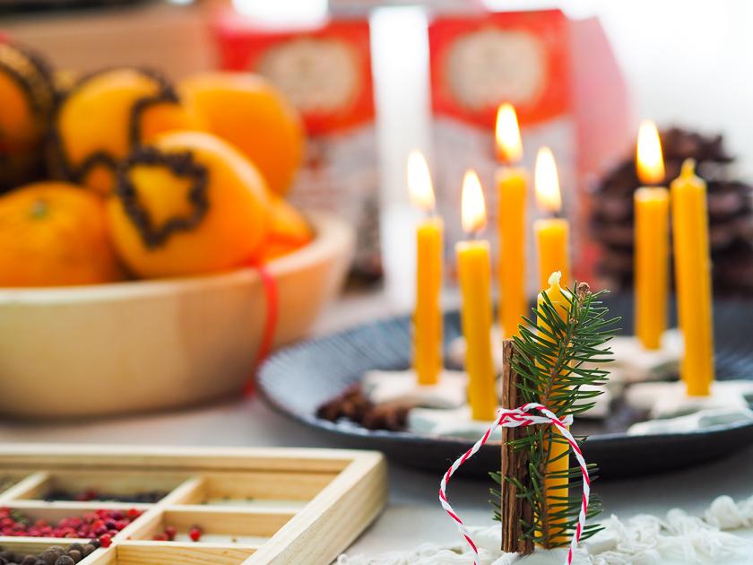 Weihnachtsbasteln mit Kindern Sternen Kerzenhalter
