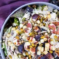 Warmer Salat mit Sellerie & Feige, vegan