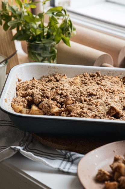 Apfel Crumble vegan