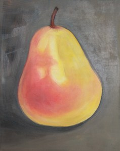 "Nov. 4 Red Pear - 11"" x 13"""