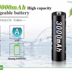 Аккумуляторная батарея  PALO AA  PALO 3000mah  1,2 В Ni-MH  Конкурент eneloop