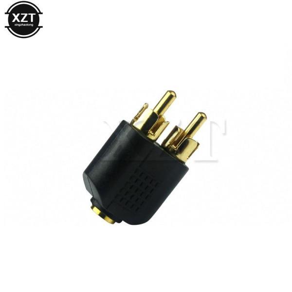 2 RCA мужской аудио разъем адаптер на 3,5 Jack аудио для наушников