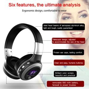 Zealot B19 с FM-радио и microSD Беспроводный наушники  Складные Hi-Fi ОРИГИНАЛ Черный белый