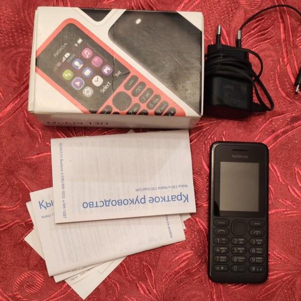 БУ Мобільний телефон NOKIA 130 Dual SIM чорний
