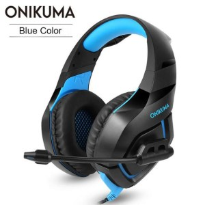 ONIKUMA K1B компьютерные игровые наушники B с микрофоном и светодиодной подсветкой Красный лучше Kotion G2000 Синий