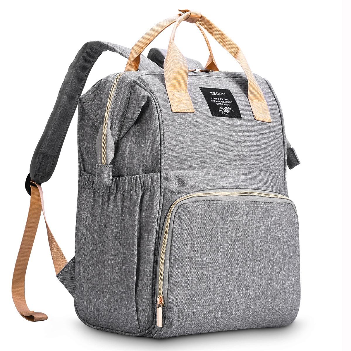 Сумка рюкзак для кормящих мам OSOCE M1 Серая