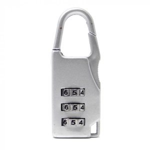 Брелок кодовый замок на сумку Серый