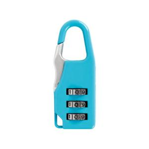 Брелок кодовый замок на сумку Голубой