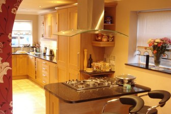 completed wooden kitchen