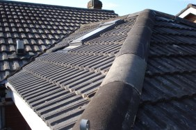 roof tiles on top of house with velux window