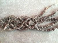 portachiavi in corda grezza colorata grigia