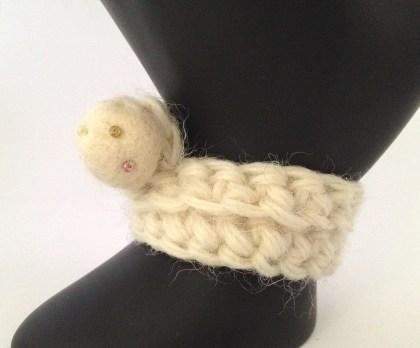 bracciale crochet lana 13