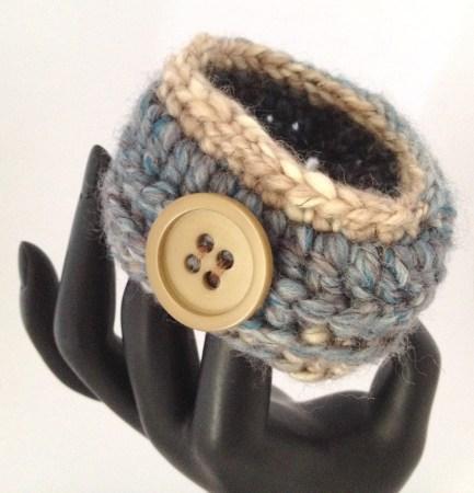 bracciale crochet lana 7