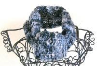 scaldacollo di morenamacrame con lana di Fiberfabry m