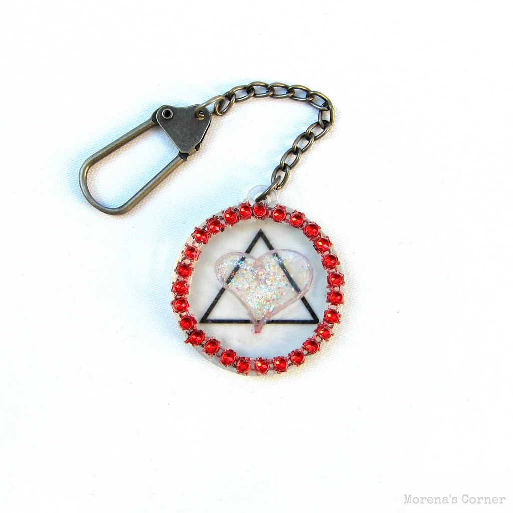 Adoption awareness month diy keychain with free graphic adoption symbol keychain buycottarizona Image collections