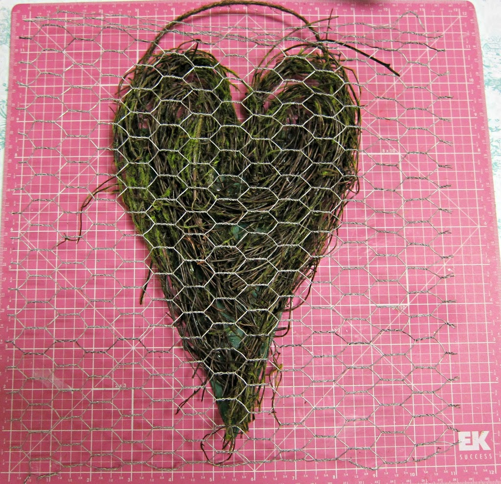 Wall Decor Chicken Wire Heart Morena S Corner