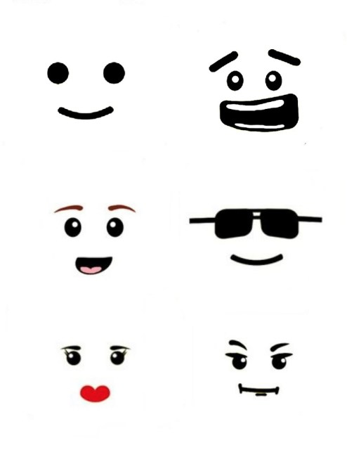 Ridiculous image with lego faces printable