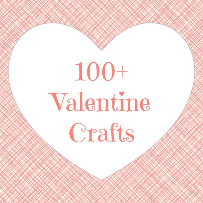 A round up of 100 cards, gifts, and home decor items you can make for Valentine's Day.