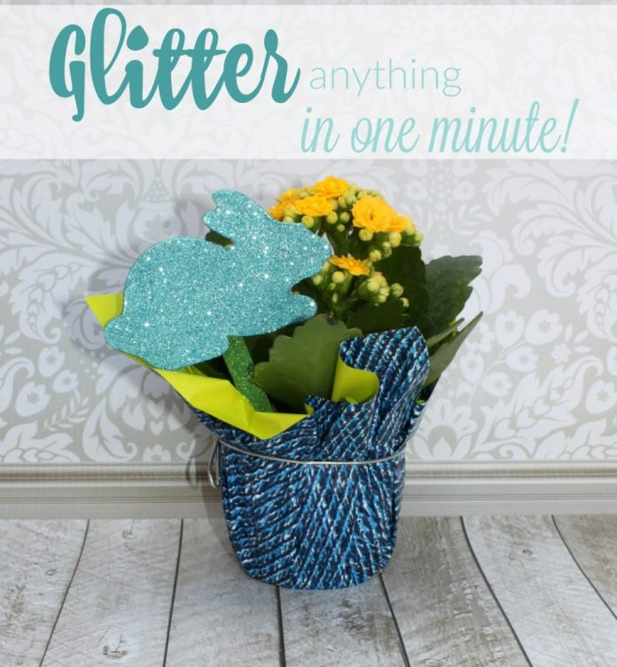 Use the New Xyron Creative Station Lite to glitter almost anything in under a minute! Quickly add glitter to wood, chipboard, paper, and more!