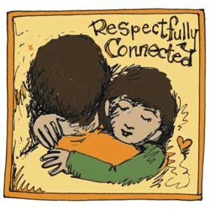 Respectfully Connected logo is an illustration of a parent and child embracing