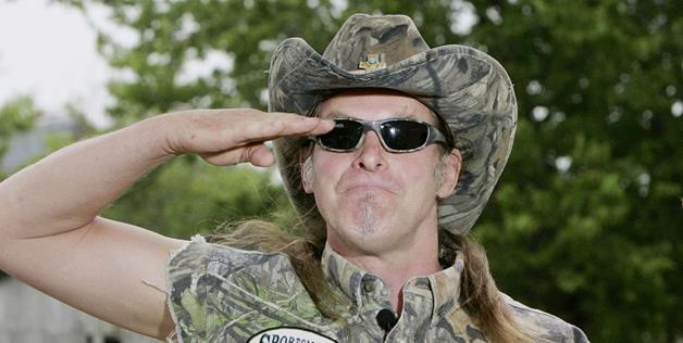 ted nugent saluting