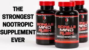 Gorilla Mind Rush supplement bottles