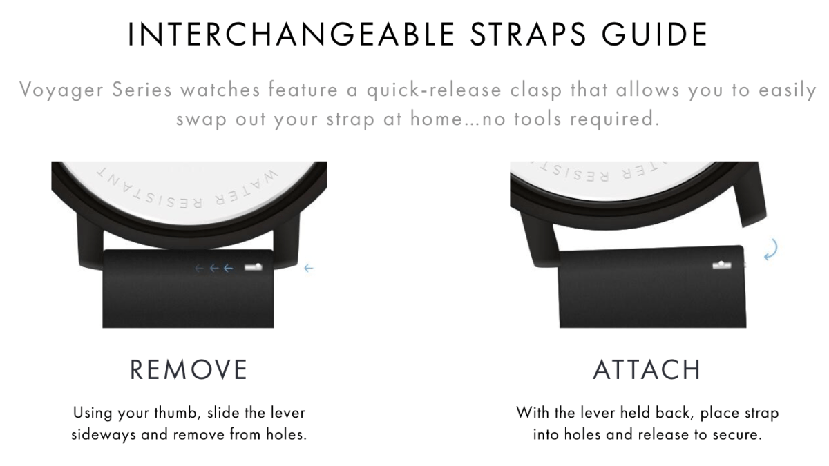 MVMT Watch Strap Change Instructions