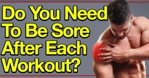 Bodybuilder holds sore shoulder
