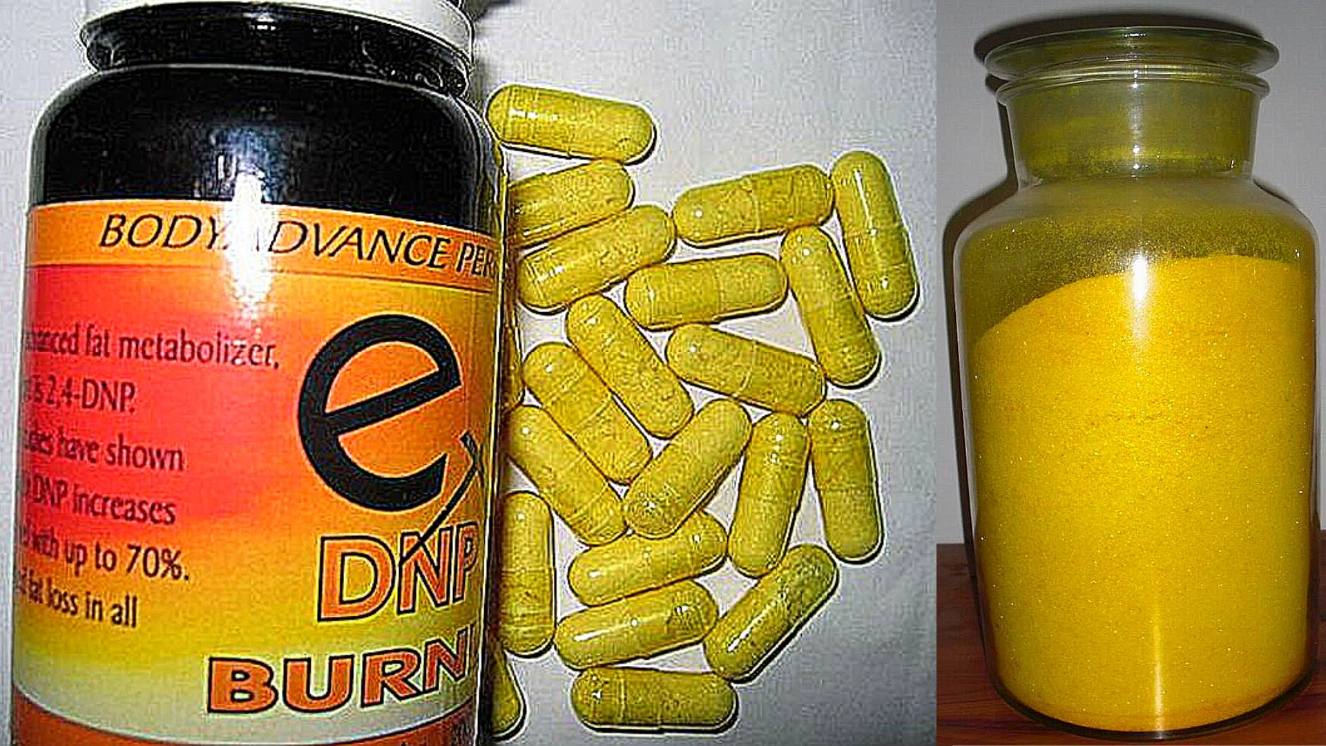 DNP Capsules and DNP raw powder