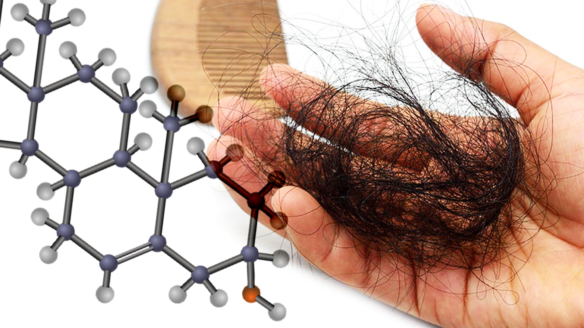 Chemical structure of HGH and GH hair loss on hands