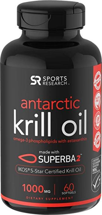 bottle of Sports Research Antarctic Krill Oil