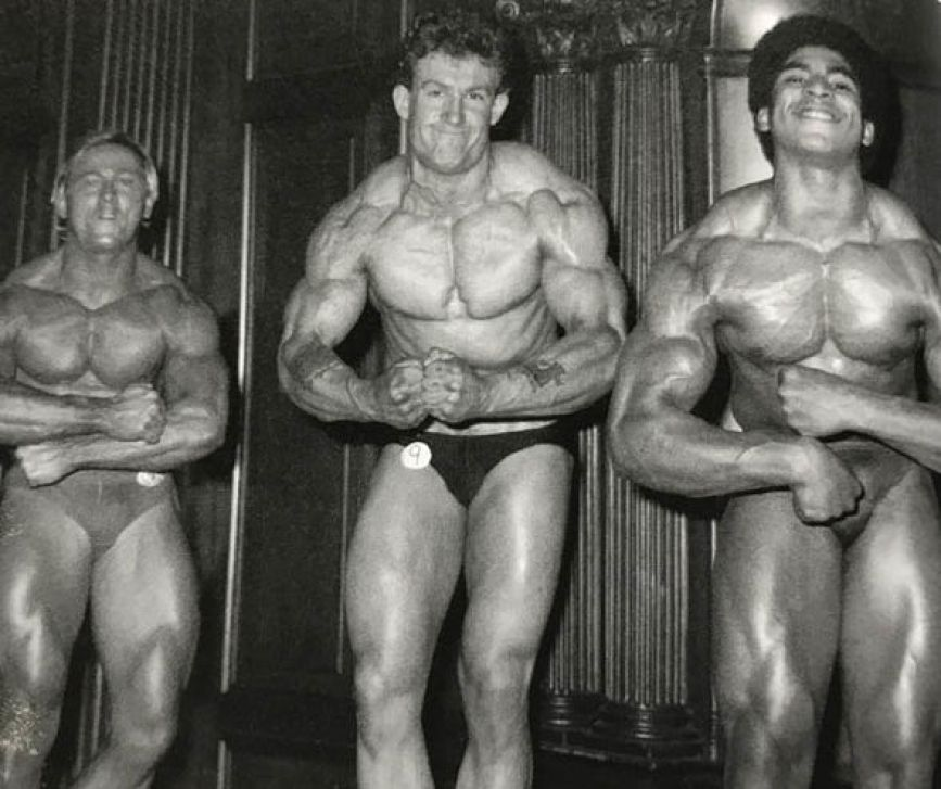 Dorian Yates during the Temple Hotel Birmingham competition in 1984