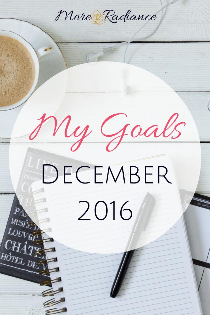 My Goals for December