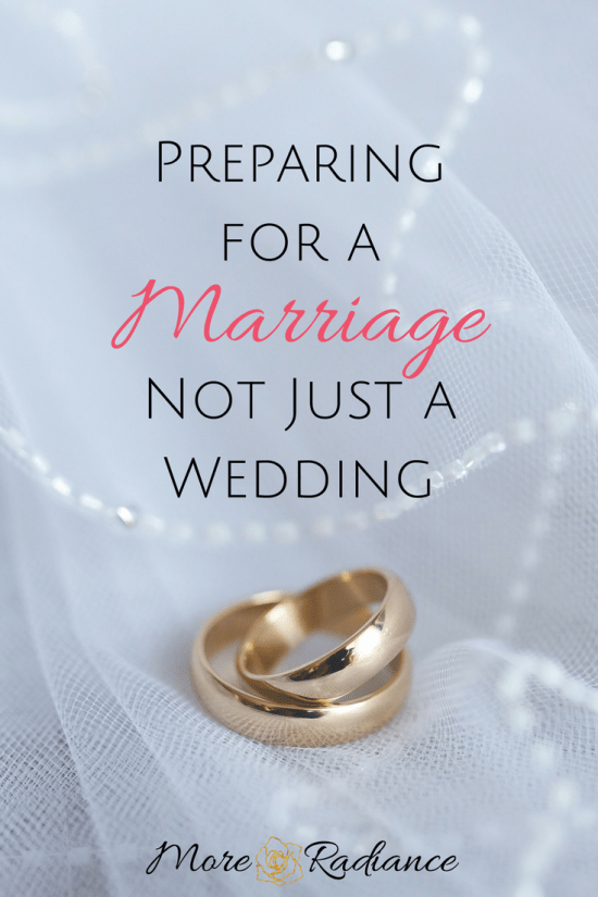 Preparing for a Marriage... Not Just a Wedding