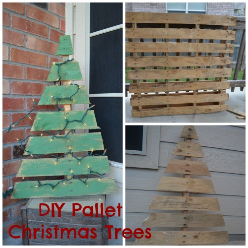 Diy pallet christmas trees nothing but room for Pinterest pallet christmas ideas