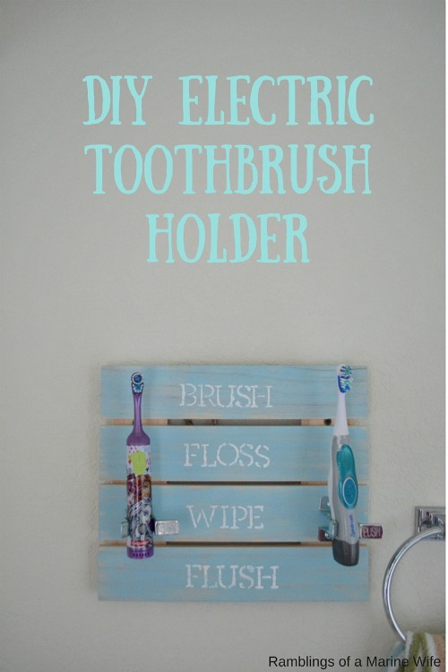 DIY Electric Toothbrush Holder | Nothing But Room on Decorative Sconces Don't Need Electric Toothbrush id=87575