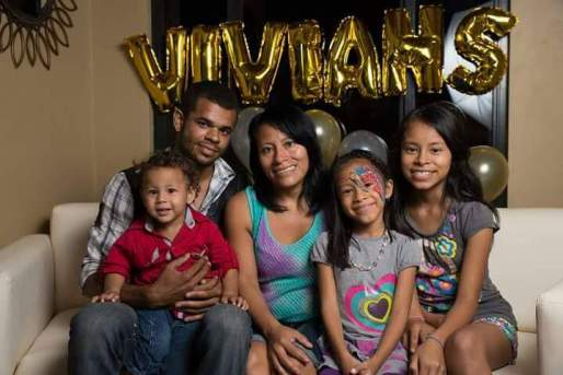 Left to right: Andrew holding Caleb, Lisa, Azariah, Briane who live in Central America