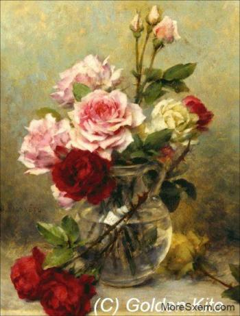 Кувшин с розами