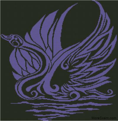 Сиреневый лебедь