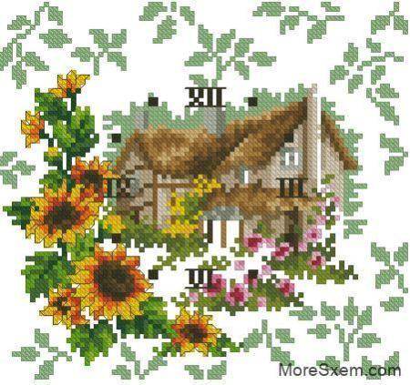 Часы цветочный сад