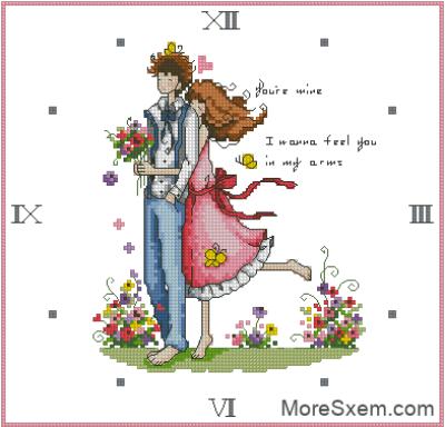 Часы влюбленная пара