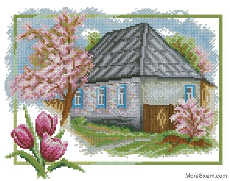 Дом весной