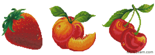 Клубника, персик, вишни