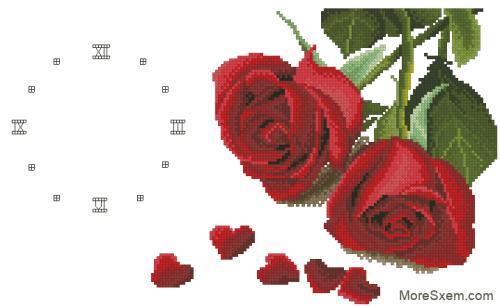 Часы с красными розами